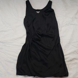 Black satan dress